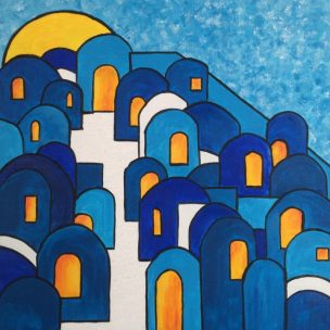Chefchaouen blue town painting for sale