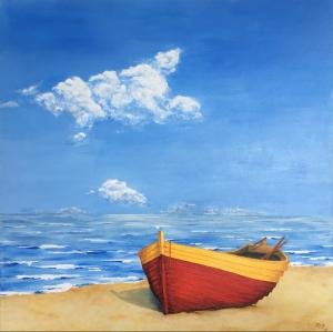 Boat on Beach 60x60 £700