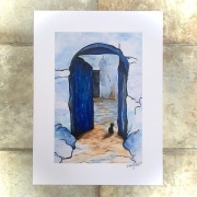 Cat in Blue doorway Chefchaouen