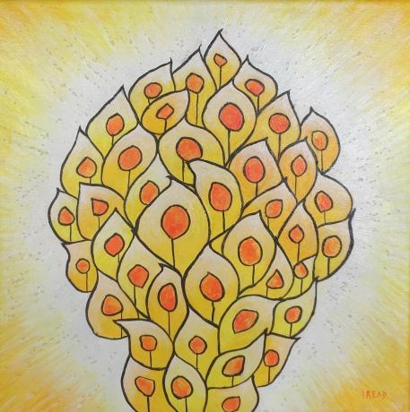 Praise and Worship - Yellow theme. 30x30 cms £185
